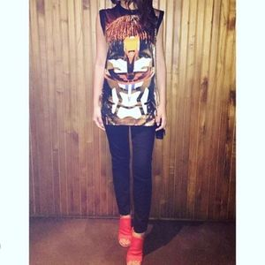 Givenchy Tribal Face Top